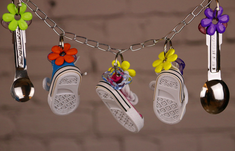 Gnaw Parrot Sneakers Bird Metal A Soup Spoon String Toys 100g