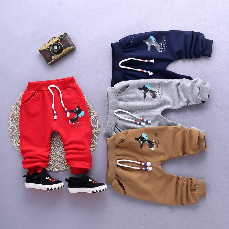 2019 Spring Autumn Children Girls Fashion Pants Baby Cartoon Pattern Print Trousers Elastic Waist Infant Clothes For 1-4 Years