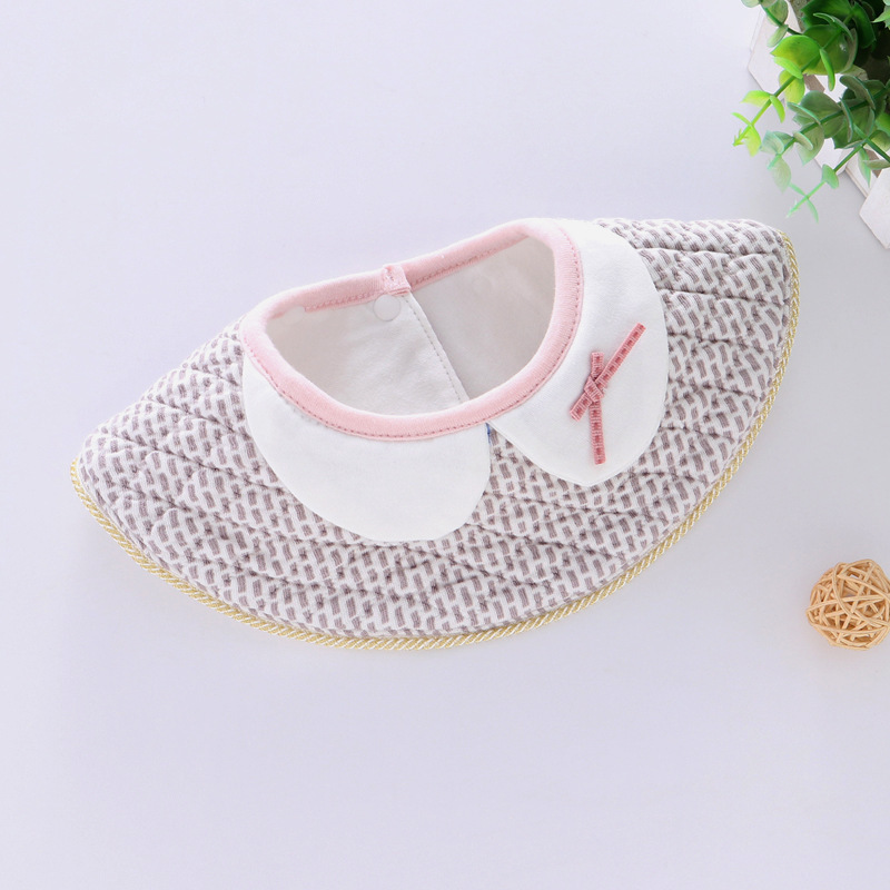 100% Cotton Waterproof Baby Bibs Fashion Round Neck Baby Girls Bibs 360 Degree Flower Star Bib For Girls Baby Girls Clothing (8)