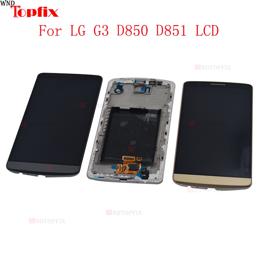 100% Tested 5.5inch LCD For LG G3 D850 D851 LCD Display Touch Screen Digitizer Assembly With Frame Pantalla Replacement Parts (8)
