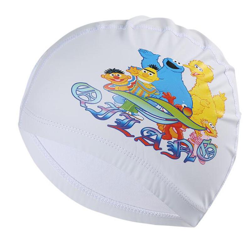 Cute Cartoon Pu Fabric Kids Children Swimming Cap Hat Swim Pool Sport Protect Ears Long Hair For Girls Boys Multi Pattern Colors C19040302