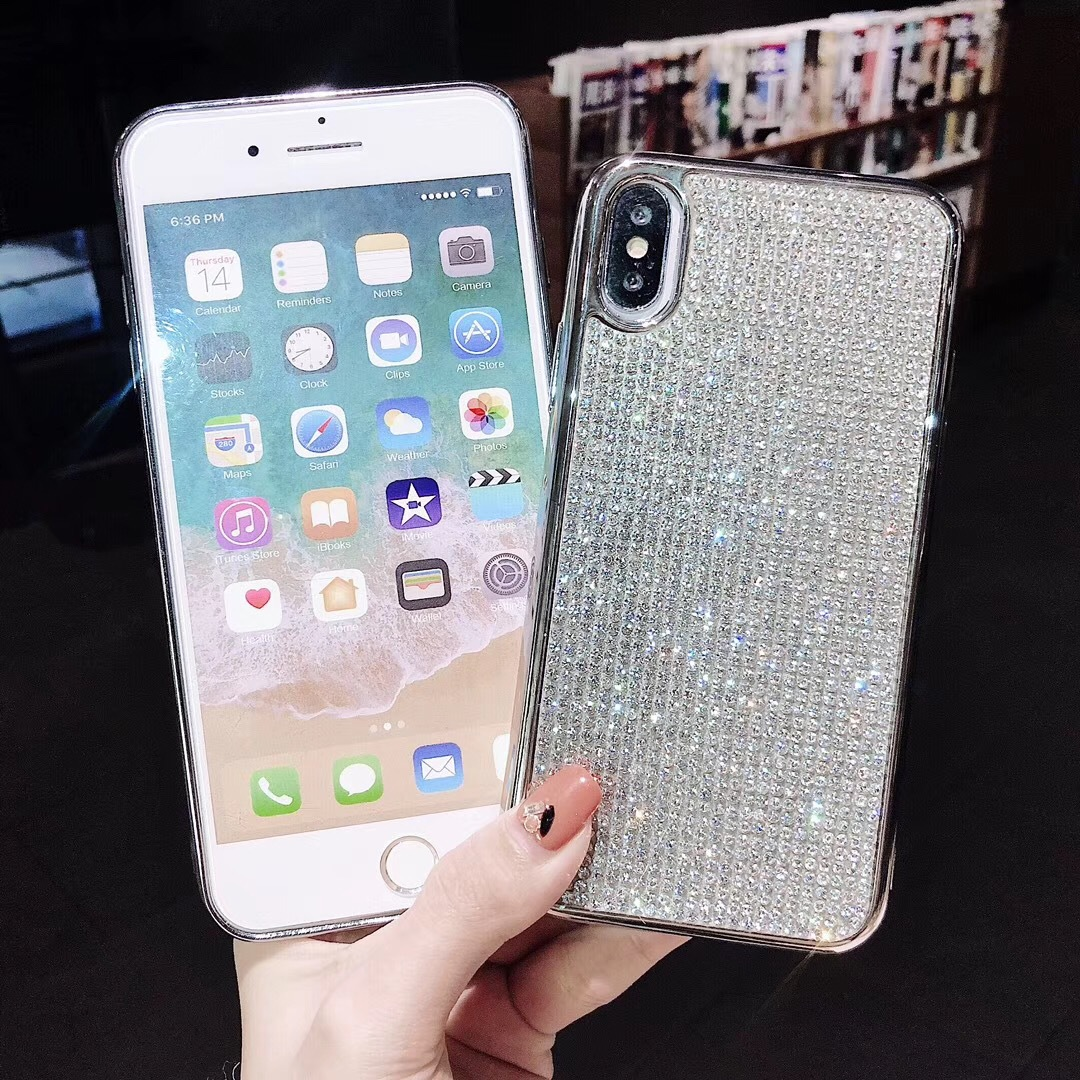 fashion full diamond clectroplating cellphone case cover for iphone 6/6s 7/8 plus x/xs xr max nice gift how sale