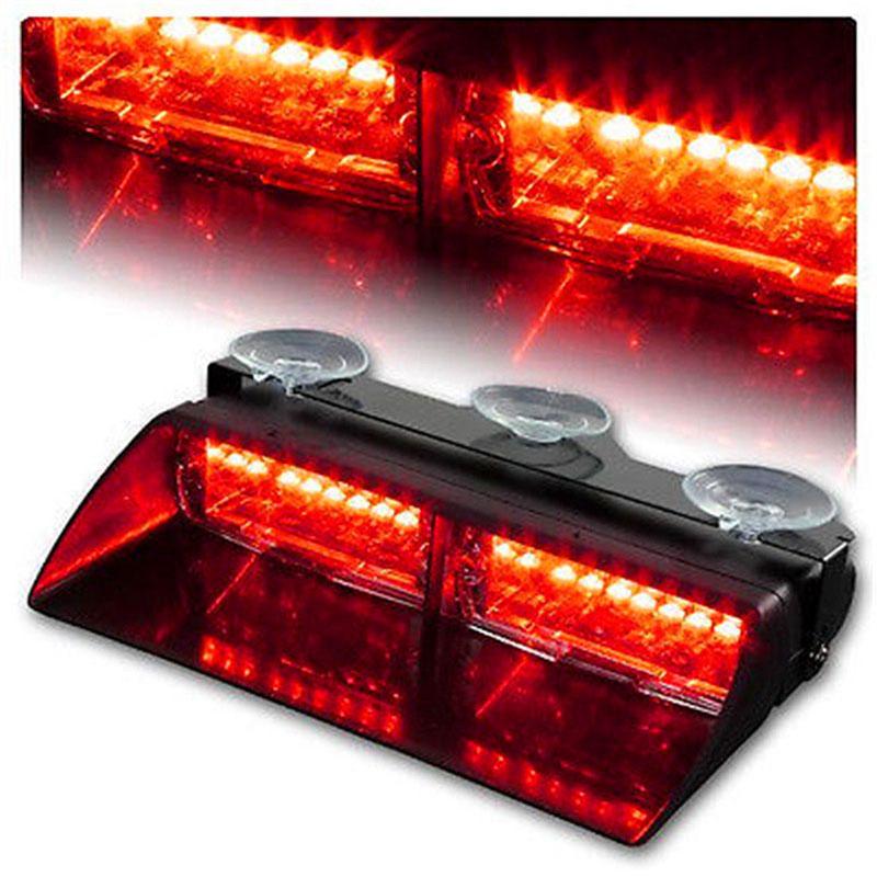 1set Car Red 16 LED Dash Strobe Flash Light Emergency Police Warning Lamp 18 flashing modes
