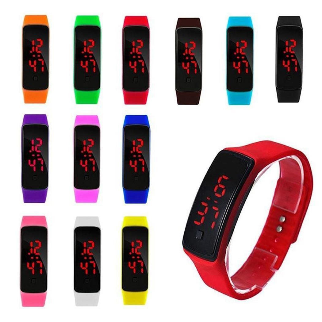 Gioielli nuovi bambini di modo LED Watch Orologio Digitale Sport silicone casuale della vigilanza del braccialetto nuovo modo