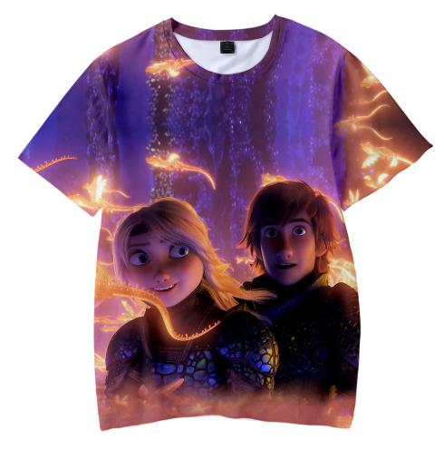 Toothless Silhouette Kids Unisex Boys Girls T-Shirt Grey Tee Short Sleeves