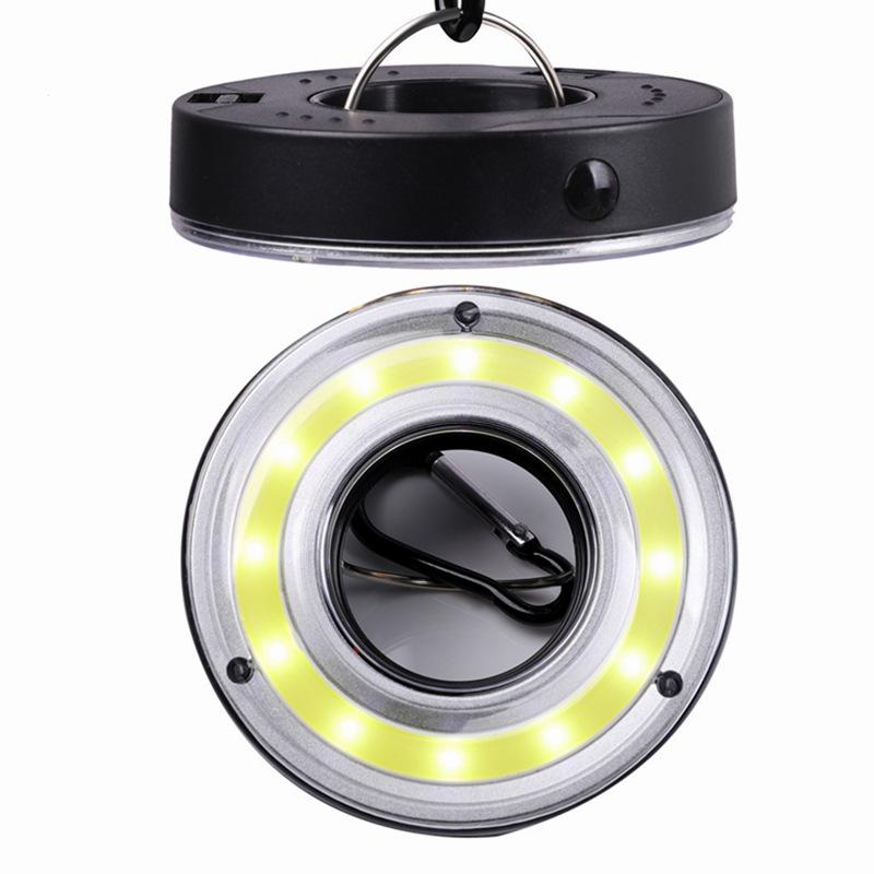 Karabiner Outdoor Cob LED Lampe Camping Zelt Haken Laterne Notlicht w