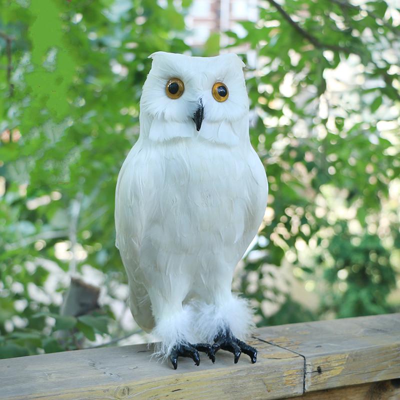 Halloween, Negro / Blanco artificiales Owl Casa encantada Puntales Scary decoración de Halloween Simulación Bird Garden Yard Decor
