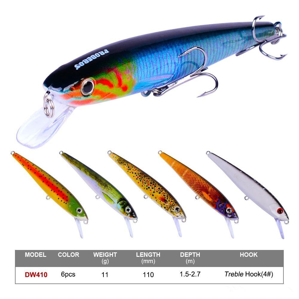 Lot 10 Pack 18.4cm//24.5g Fishing Lure Minnow Supplies Fishing Bait Wholesale