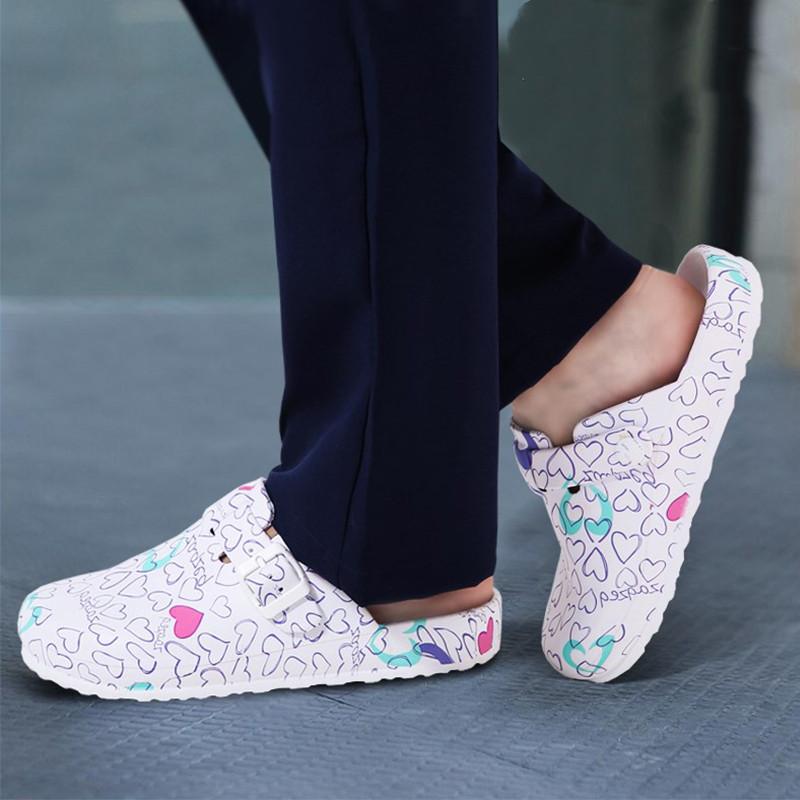 Lizeruee hôpital en soins infirmiers en gros anti dérapant Pantoufles Cartoon Workwear nettoyage Chaussures Lab SPA Chaussons