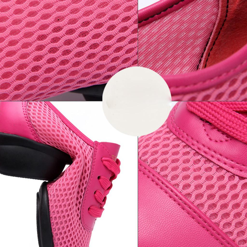 Dress Xiniu Women's Soft Bottom Mesh Shoes Lace-up Ladies' Comfortable Cheap Casual Ladies Single Shoes Dancing Shoes