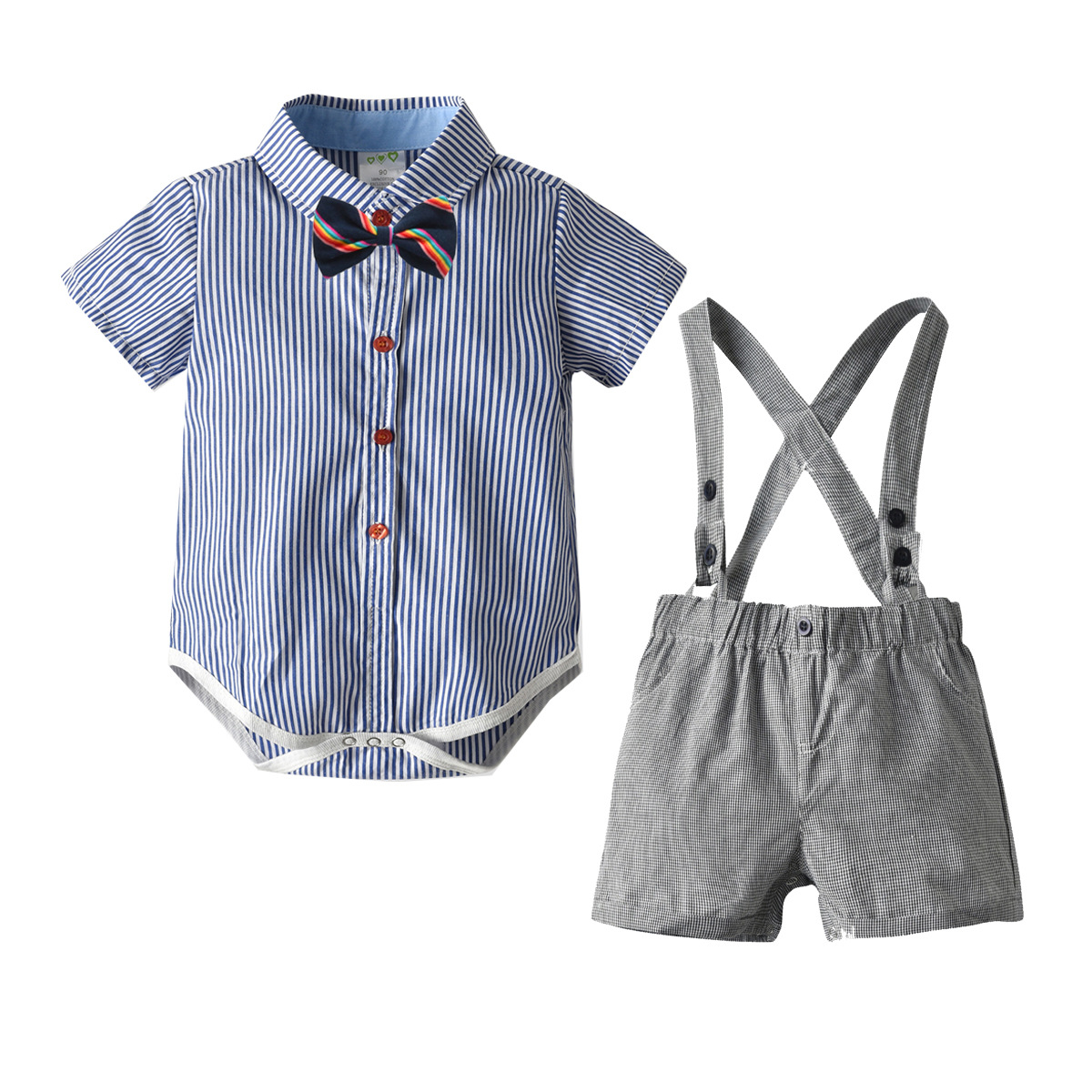 Lurryly 3Pcs Baby Romper Jumpsuit+Pants+Headband Clothes Clothing Outfit Set Apparel 0-2T