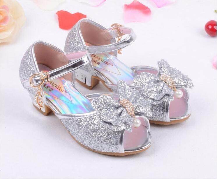 Girls Princess Leather Shoes-15