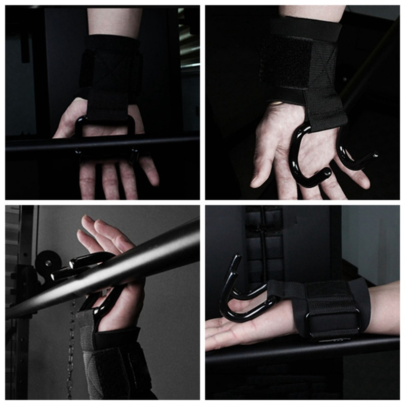 Rad 1/par Heavy Duty Bar Rod ganchos para levantamiento de peso gimnasio Entrenamiento apoyo guantes de entrenamiento