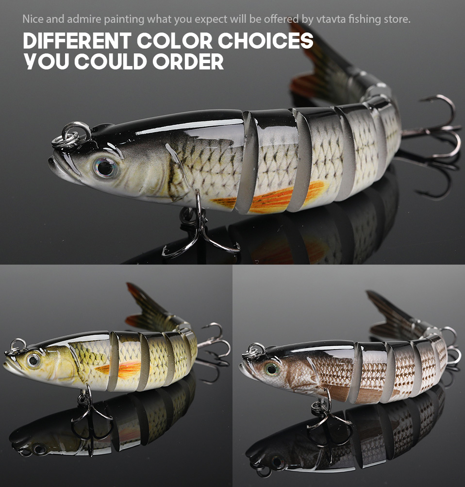 VTAVTA 14cm 23g Sinking Wobblers Fishing Lures Jointed Crankbait Swimbait 8 Segment Hard Artificial Bait For Fishing Tackle Lure 08