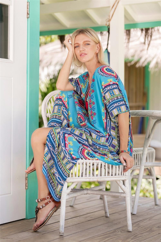 aa421723b Plus Size Online Shopping India Ethnic Dress Moroccan Clothing India Summer  Dress Casual Vestidos Femininos Black Blue Yellow. 00 0. 1. 1 2 ...