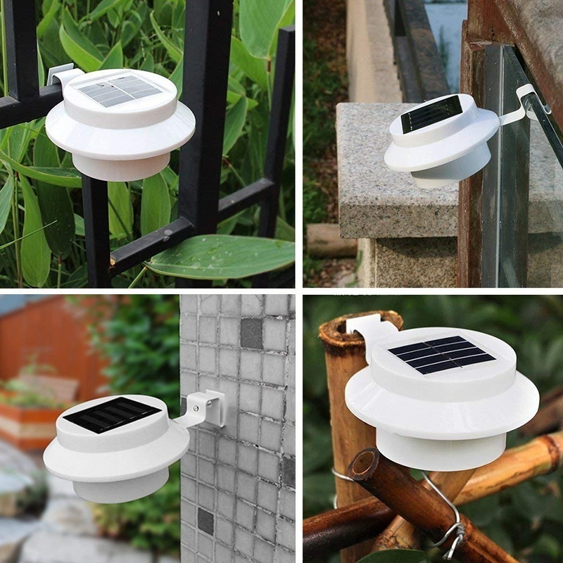 3LED Bulbs Wall Lamp Led Solar Light Outdoor Garden Porch Lights Farm Waterproof Sink Pathway Lamps For Driveways Fence Home