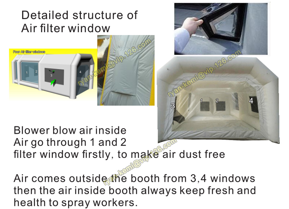 filter-system-of-inflatable-spray-paint-booth-tent