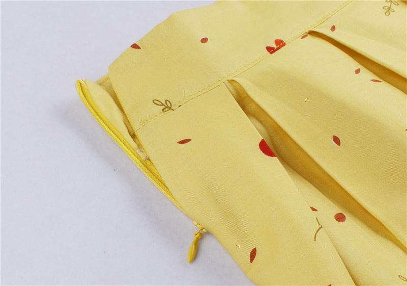 Kostlish Retro Print Flower Summer Skirts Womens High Waist Vintage Skirt Elegant A-Line Midi Women Skirt Plus Size XXL 22 (29)