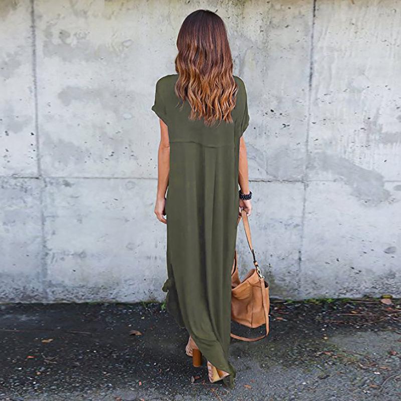 Frauen sommerkleider kleidung stilvolle pullover maxi dress eine art stricken casual langes kleid kurzarm backless dame clothing