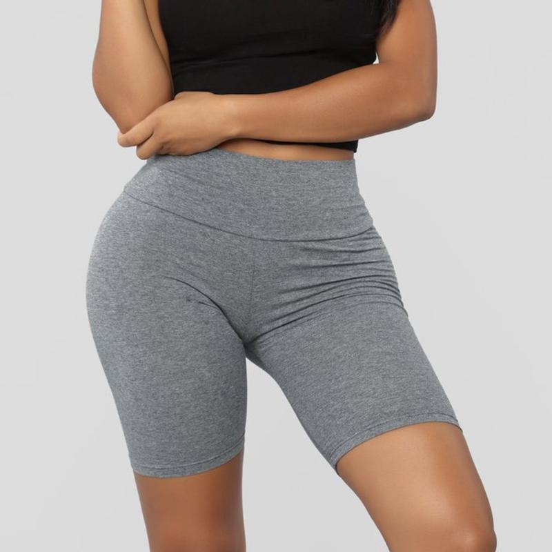 Womens Ladies Cotton Knee Length Active Dance Cycle Gym Leggings Shorts