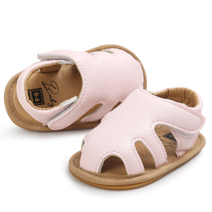 3 Color Summer Fashion Toddler Infant Kids Baby Boys Girls Solid Sandals Casual Anti-slip Soft Sole Shoes Sneaker M8Y02 (10)