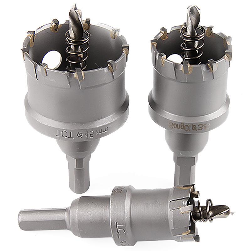 Trou Métal Scie trépan TCT carbure de pointe en acier inoxydable Cutter Heavy 17 mm