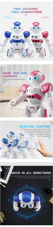 RC Robot Intelligent Programming Remote Control Robot Toy-2