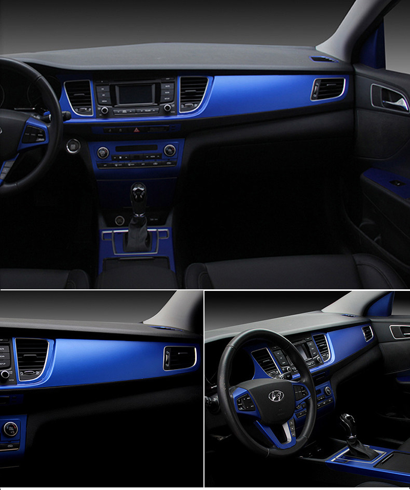Blue Metallic Chrome Vinyl Car Wrap-5