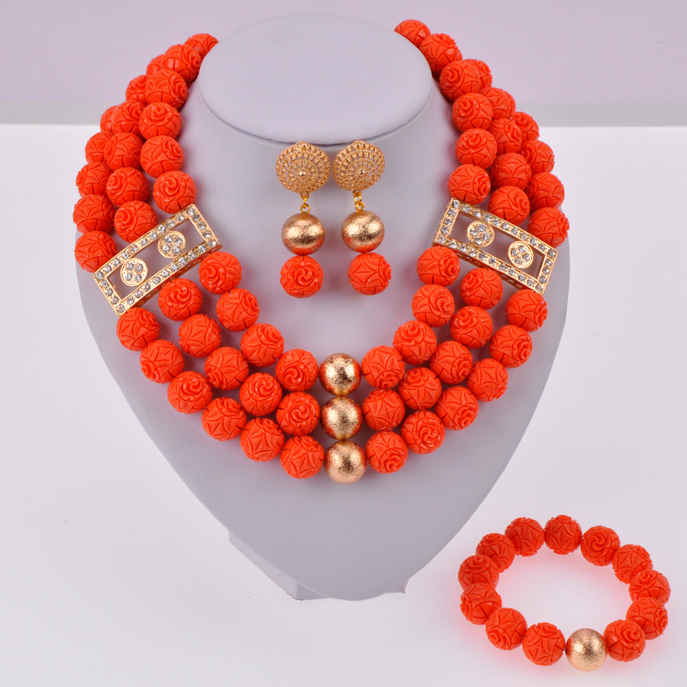 Orange Artificial Coral Beads-01-150 (4)