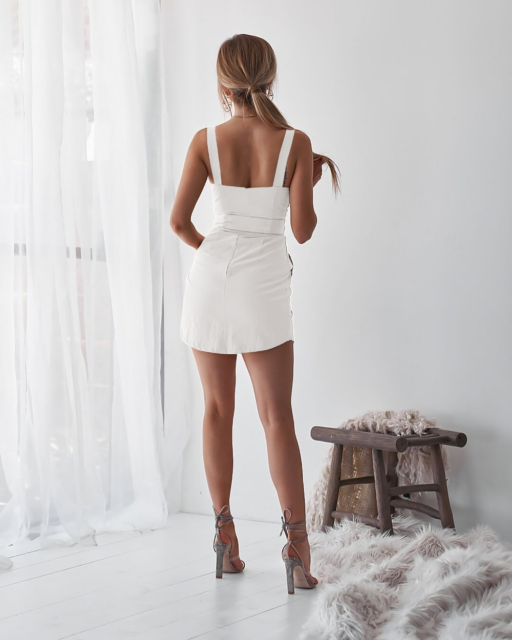 Женщины Глубокий V Платье Осень-Весна Подтяжка Сарафан Сарафан Bodycon Общее Платье Женский Натуральный Повседневный Платье