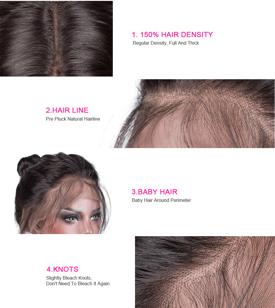 360 Lace Front wig detail