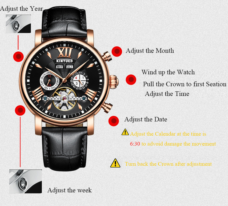 Precise Mechanical Automatic Mens Watch Flying Tourbillon Leather Waterpoof Business Watches Office Party Sport Daily Life Gift (4)
