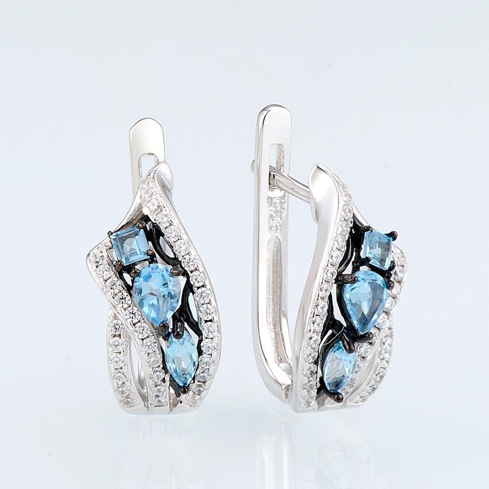 E304633SBLTZSK925-SV1-Silver Earrings-