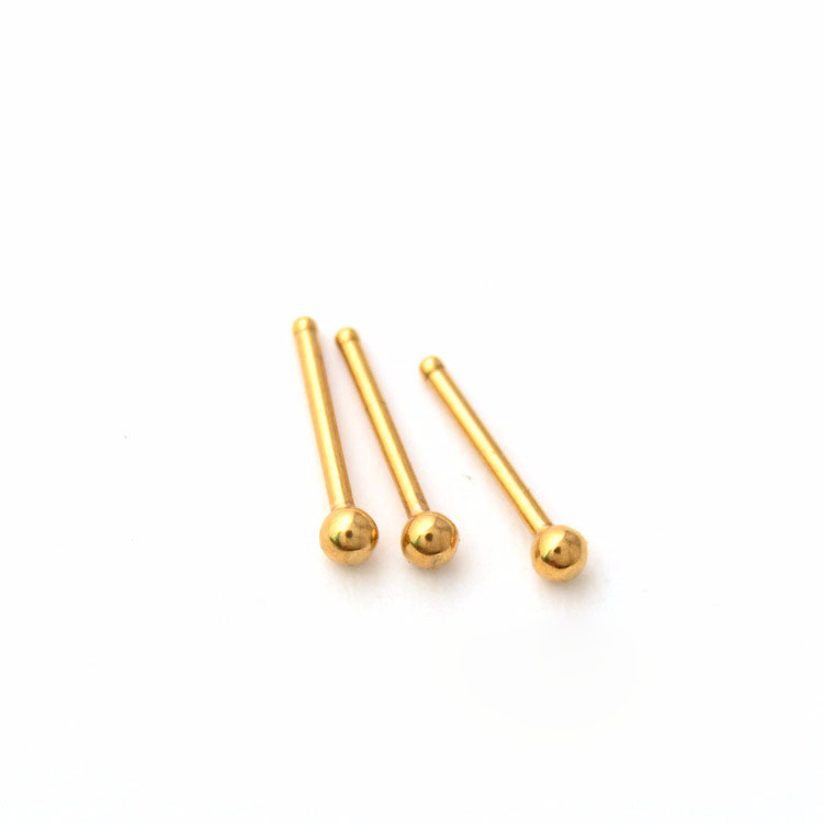 Nose Stud Nose Ring Ear Titanium steel medical steel curved rod straight ball invisiblesteel color black gold colorful rose gold