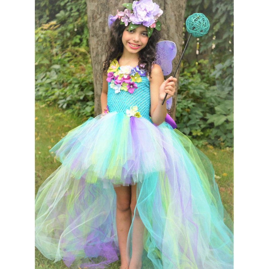 Exquisite Peacock Water Fairy Tutu Dress Girls Birthday Festival Party Pageant Costume Kids Teal Turquoise Purple Ball Gown Dress (7)