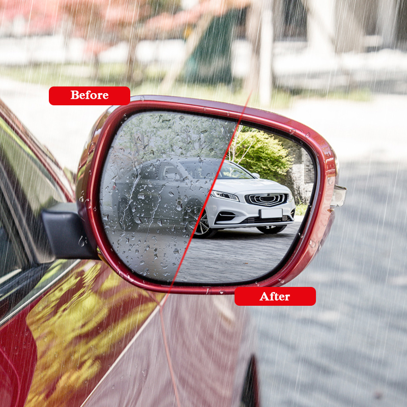 2pcs Car Waterproof Anti Fog Film Rearview Mirror Protective Film Sticker Window Clear Sticker For Geely Emgrand GT GC9 Atlas