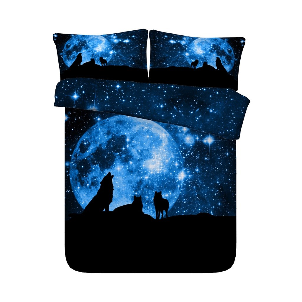 WOLF SPACE STARS INDIAN DREAM CATCHER DESIGN CUSHION COVER  45x45 CM
