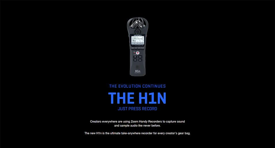 H1N Handy Recorder Digitalkamera Audio Recorder Stereo Mikrofon für Interview SLR Aufnahme Mikrofon Stift mit Geschenken