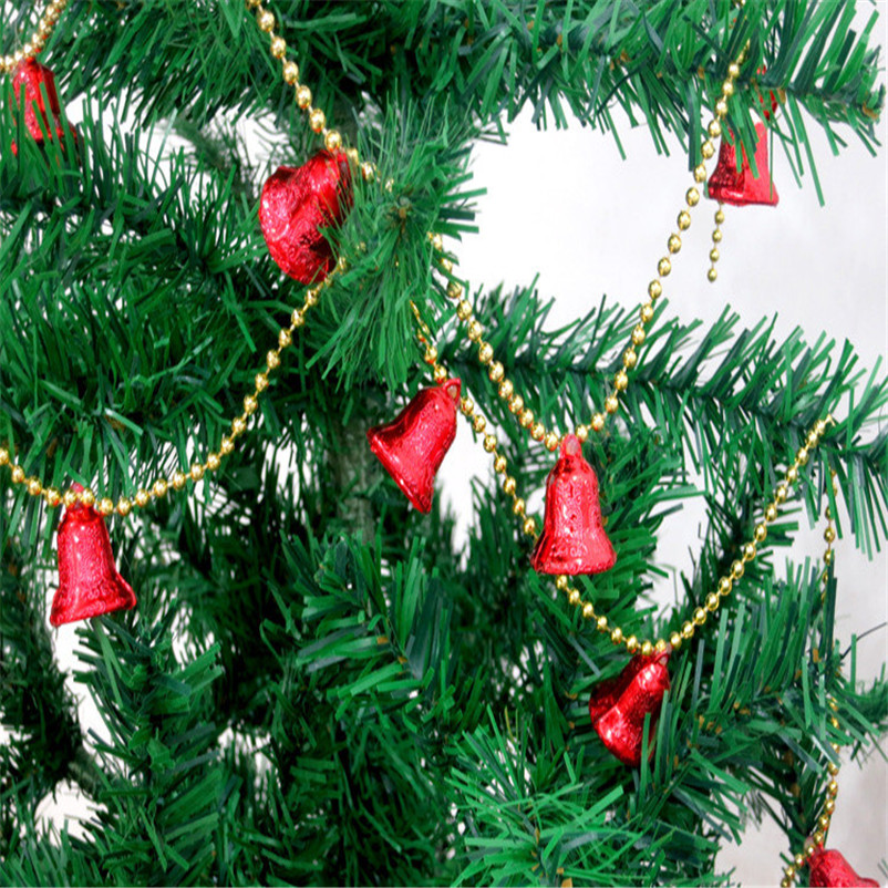 10Pcs Xmas Tree Decor Pendant Christmas Craft Jingle Bell Dangle Loop Gifts