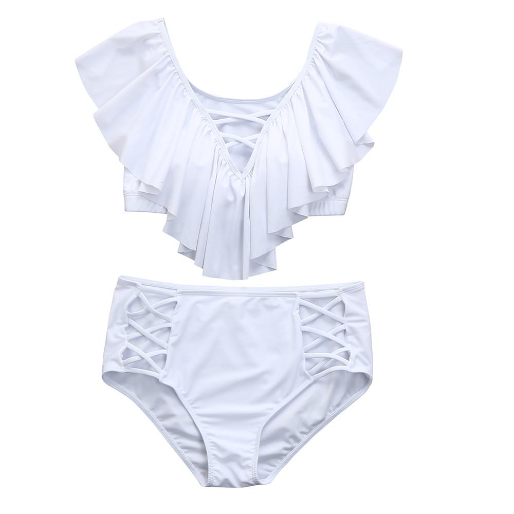 Bikinis para las mujeres del traje de baño para las mujeres Womail Marca traje de baño de las mujeres más el tamaño sólido conjunto de empuje para arriba rellenado del traje de baño de baño traje de baño Carta 20