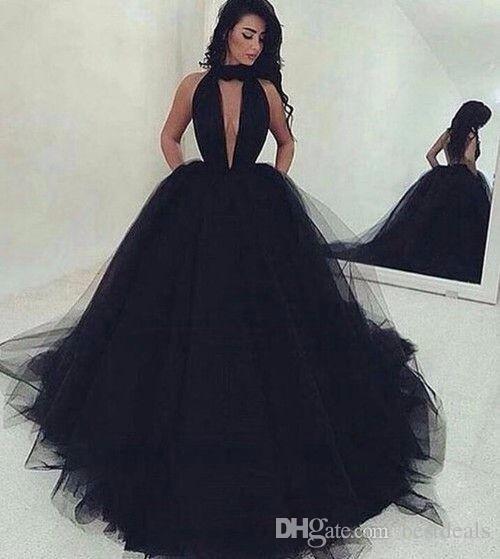 schwarz und pink ombre prom kleider