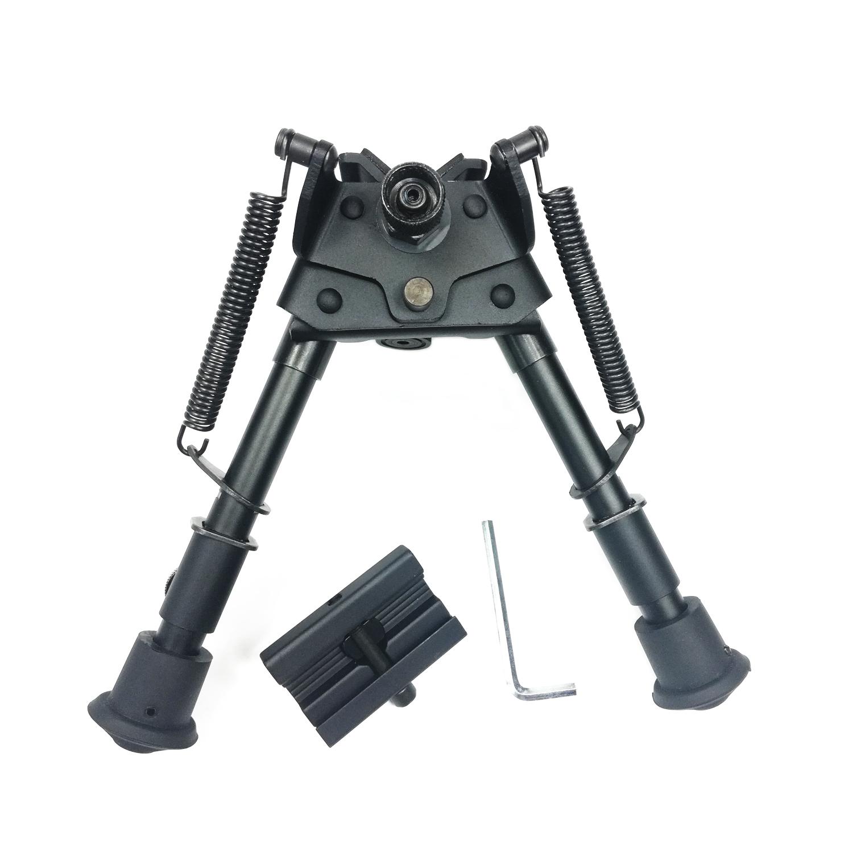 Harris Style Bipod 6-21/'/' Adjustable Heavy Duty Swivel tilt-level Pivot Adapter