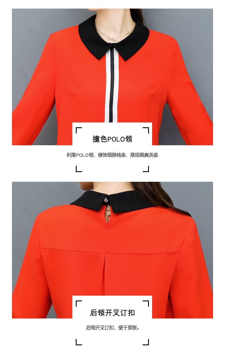 Весна Лето Блузки женские Топы Офисная Работа Элегантные Шифоновые Рубашки Красная Стройная Блузка Повседневная Longarm Плюс Размер Белая Рубашка Y19071201