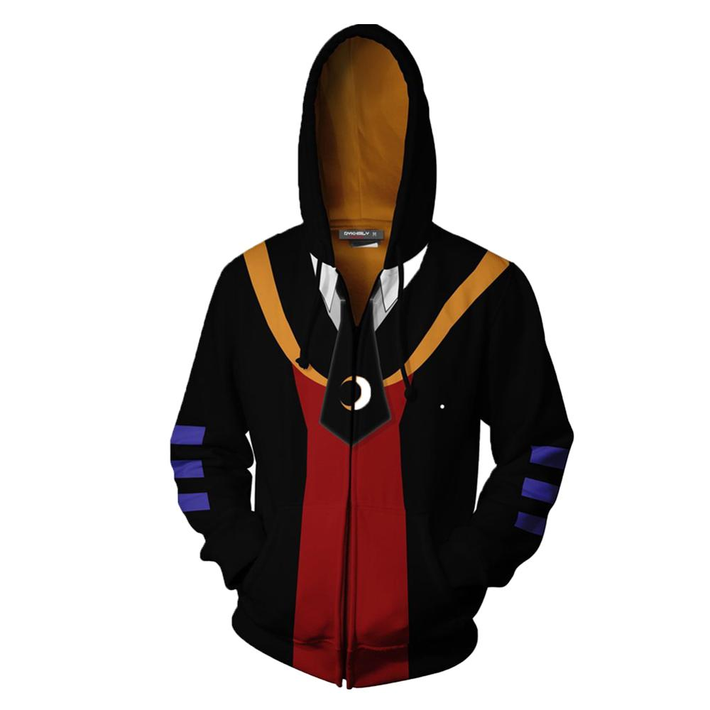 Assassination Classroom Korosensei Casual Hoodie Cosplay Costume  Coat Jacket