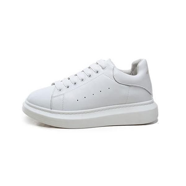 Jolly2019 Professor Ju Zhu Um Loong Shoes. Pequenos Sapatos Brancos Puro Pimqueen Fundo Grosso Homens e Mulheres de Couro Genuíno Shenwei Cidade Alma
