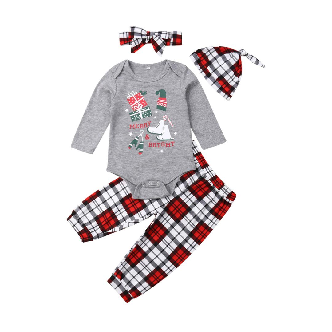 Newborn Baby Kids Girls Sister Brothers Romper Home Soft Sleepwear Outfit Set US