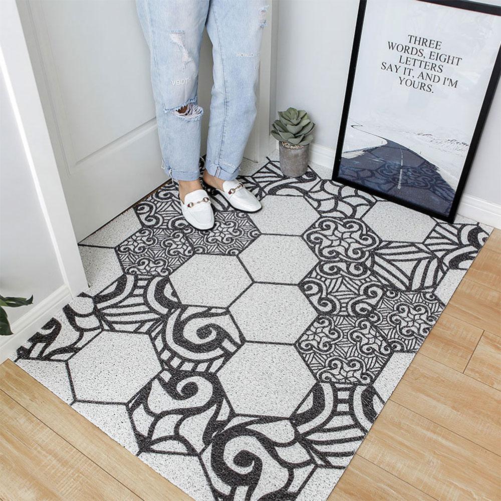 Déco D Entrée Maison 75 * 45cm anti-dérapant tapis tapis porte d'entrée hall plancher  anti-dérapant tapis accueil cuisine décoration