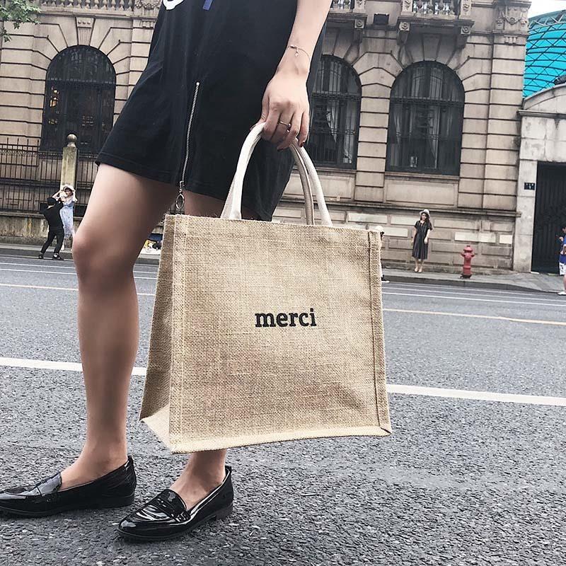 Summer New Women Weave Handbag INS Popular Fashion Female Letter Beach Straw Bags Ladies Travel Casual Braided Tote Bolsa SS3365 (3)