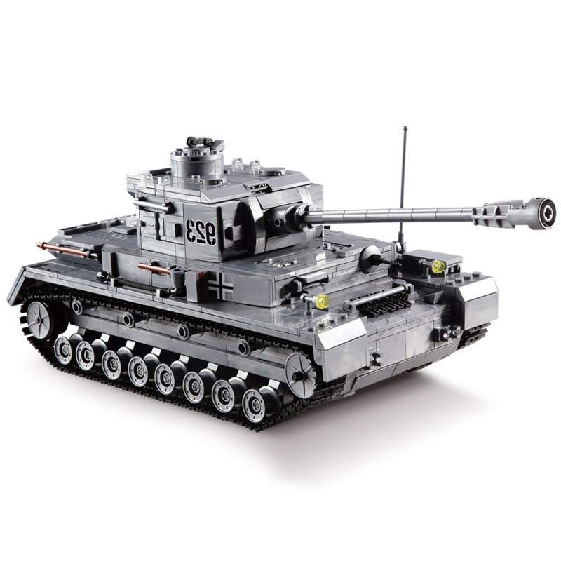 kazi KY82010 Military Building Blocks Toy Kits Panzer IV F2 Tank Model PZKPFW Panzerkampfwagen 923 Armored Forces Gift For Boy