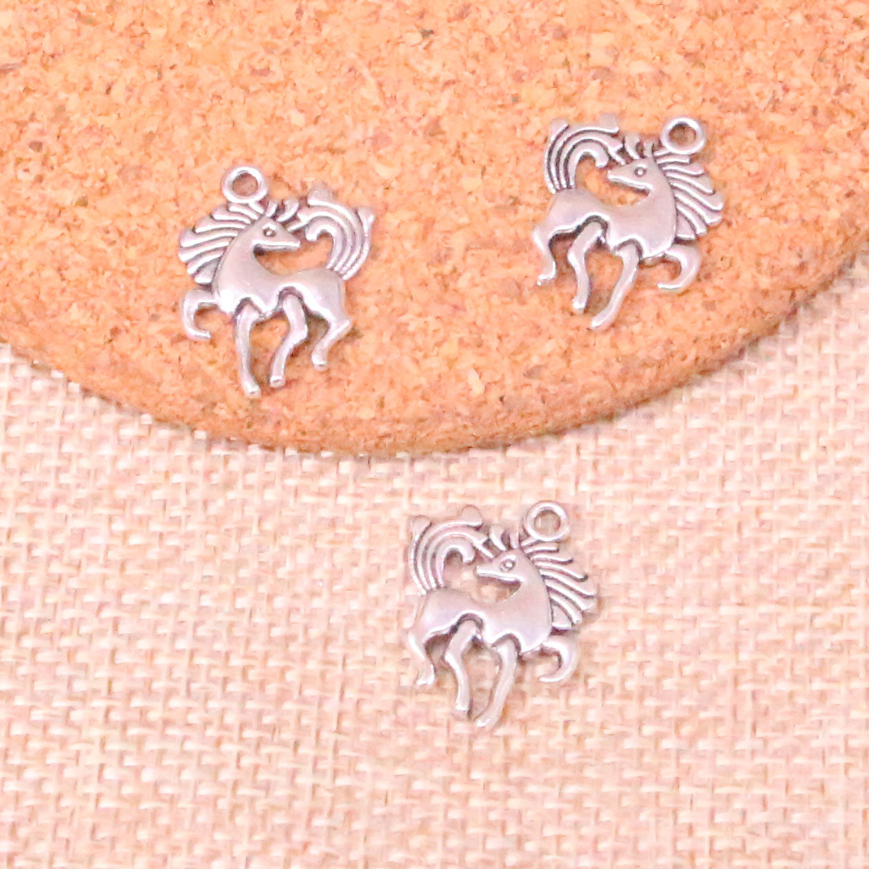 20pcs Antique Silver Unicorn Charms Pendants for Jewelry Making DIY 15x26mm